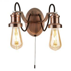 1062-2CU - fali lámpa